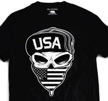 44c98f82a896 2018 New Summer Tee Shirt USA Biker Skull T shirt American Flag Military  Army Marines United states Tattoo Fashion T-shirt