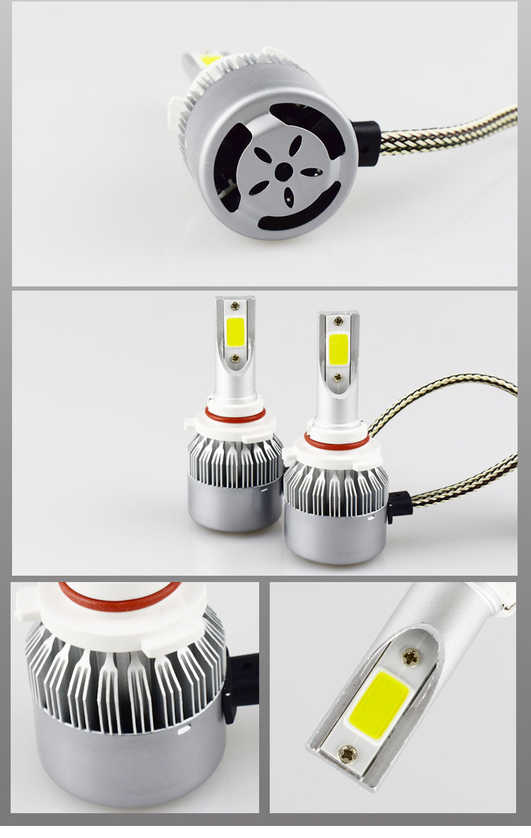 C6 H4 H7 H13 H11 H1 9005 9006 H3 9004 9007 9012 COB LED Headlight 72W 7600LM Car LED Headlights Bulb Fog Light 6500K 12V 2017 newest 9012 fanless led headlight conversion kit 6500k 6600lm c ree xhp 70 50w bulb h4 h7 h11 9005 9006 h13 9007 9004