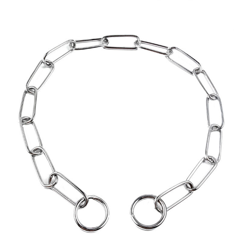 Ring shape dog collar chain Stainless steel pet Collars