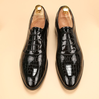Men Shoes Luxury Brand Loafers Glossy Mens Patent Leather Dress Shoes Elegant Footwear Unique Pointed Toe