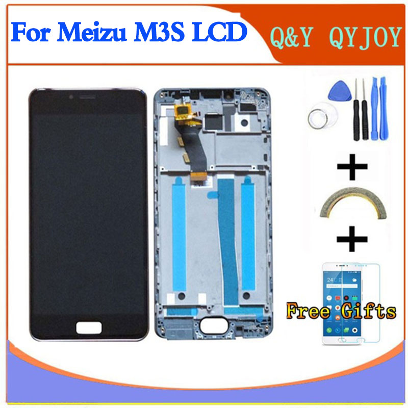 AAA LCD For <font><b>MEIZU</b></font> <font><b>M3S</b></font> <font><b>mini</b></font> Y685H LCD <font><b>Display</b></font> With New Frame Screen Replacement For MEILAN 3S Digiziter Assembly image