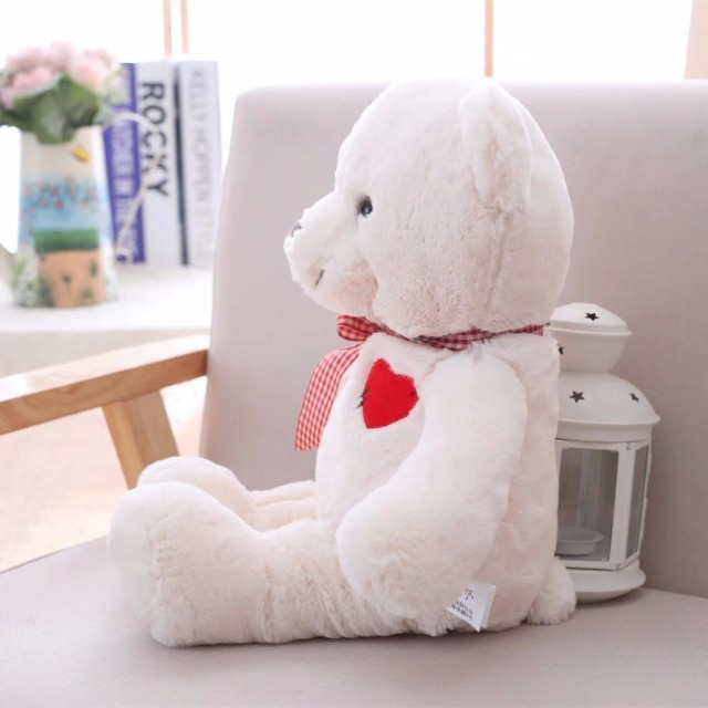 1pc 35/50cm Lovely Teddy Bear Plush Toys Stuffed Cute Bear with Heart Doll Girls Valentine's Gift Kids Baby Christmas Brinquedos Uncategorized Decoration Kid's Toys Stuffed & Plush Toys Toys
