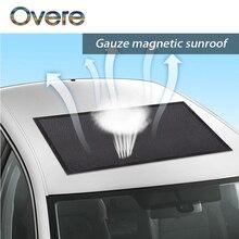 Overe 1 PC araba Sunroof kapak güneşlik örgü sivrisinek toz koruma Kia Rio Ceed Cerato Sorento için Mazda CX-7 6 Mini Cooper R56