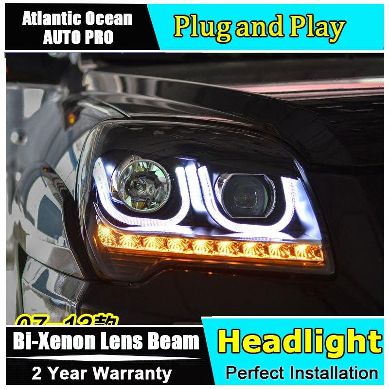 стайлинга автомобилей для Kia Sportage автомобильные фары у ангела глаза 2007-2013 для Киа Спортаге би-ксенон, двойной объектив, спрятанный