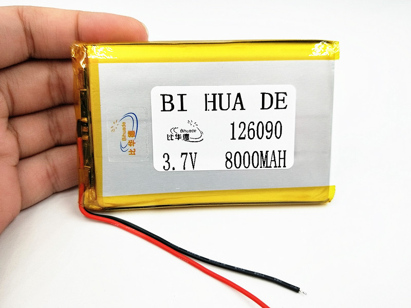 3.7 V Lithium Polymer <font><b>Battery</b></font> <font><b>8000mah</b></font> 126090 Li-Po Rechargeable <font><b>Battery</b></font> For MP4 MP5 <font><b>Tablet</b></font> E-book GPS Power Bank Medical Devices image