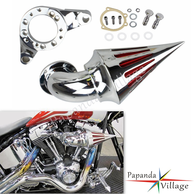 Motorbike Chrome Spike Cover Air Cleaner Intake Filter Kits for Harley Davidson CV Carburetor Delphi V-Twin