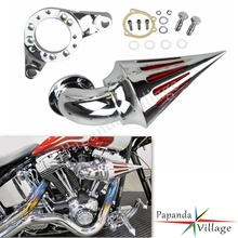 Motorbike Chrome Spike Cover Air Cleaner Intake Filter Kits for Harley Davidson CV Carburetor Delphi V-Twin black motorcycle spike air cleaner kits intake filter fit for honda shadow 600 vlx600 1999 2012 vlx 600 shadow600 2000 2001 2002