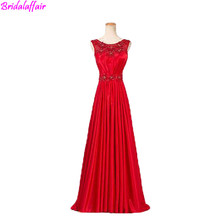 Red Prom Dress Long Waist Charmeuse Evening Gown Formal Women Elegant Dresses Ladies abendkleider 2019