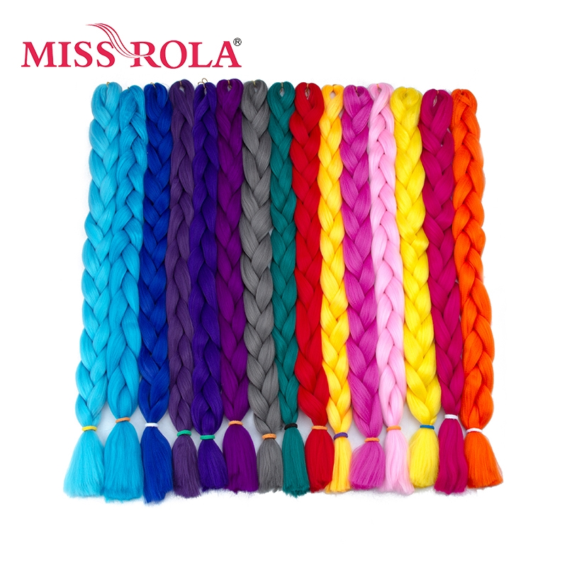 Miss Rola Jumbo Braids Hair Extensions 82 inch 165g/piece Pure Colorful to pick High Temperature Synthetic Hair Bundles