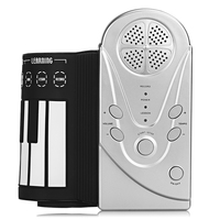 Portable Roll Up Keyboard Piano 49 Keys Silicone Foldable Electronic Digital Roll Up Keyboard Piano With