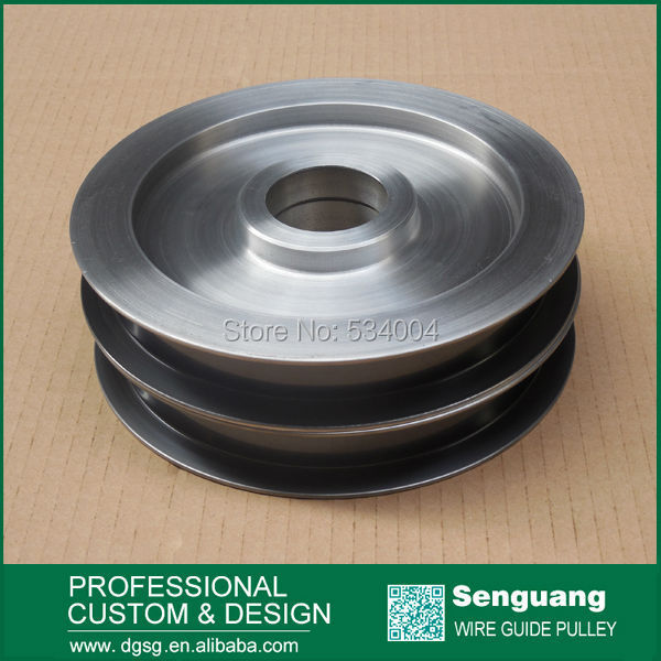 take up pulley for wire drawing macine chrome oxide plated steel wire guide pulley for wire industry