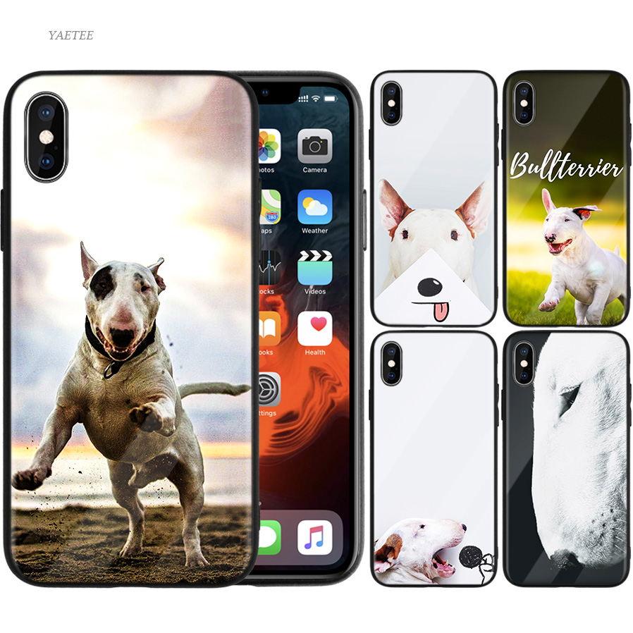 Half-wrapped Case Beautiful Yinuoda Bullterrier Bull Terrier Dog Novelty Fundas Phone Case Cover For Iphone X Xs Max 6 6s 7 7plus 8 8plus 5 5s Xr