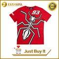 2016 nueva moda de verano moto gp 93 marc márquez camiseta los hombres de la motocicleta camiseta roja