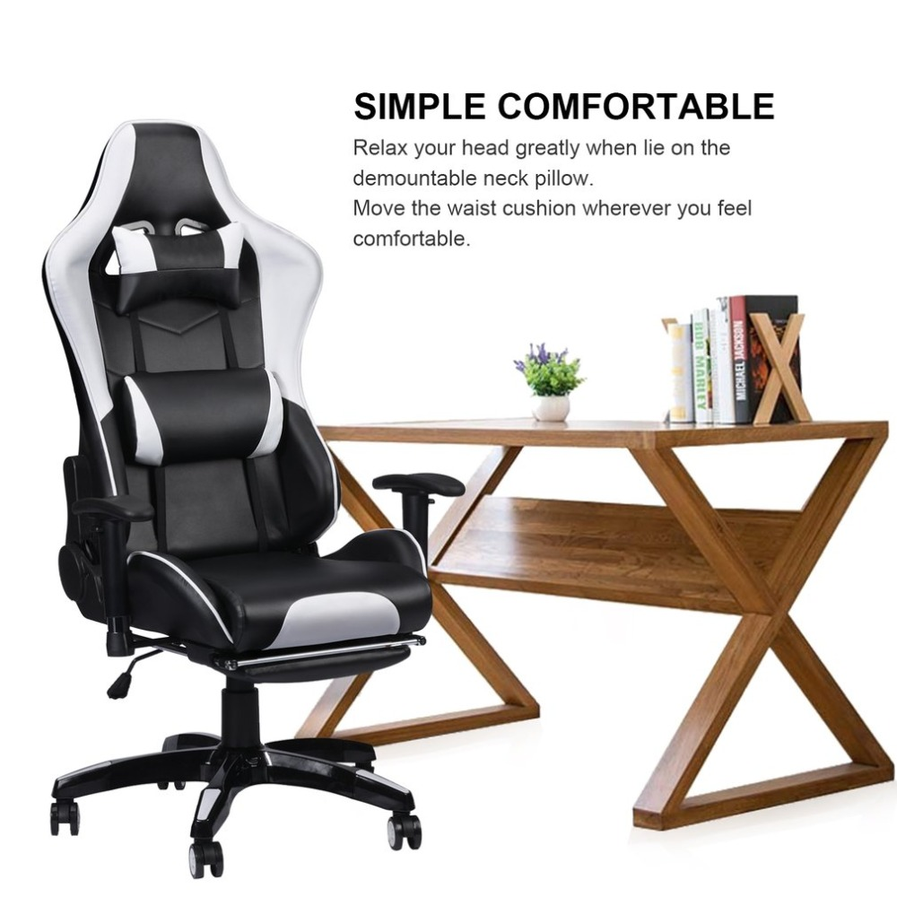 Hot Racing Gaming Office Chair Computer Desk 360 Degree Chair Adjustable Seat & Armrests Height Backrest Recline Retractable LegHot Racing Gaming Office Chair Computer Desk 360 Degree Chair Adjustable Seat & Armrests Height Backrest Recline Retractable Leg