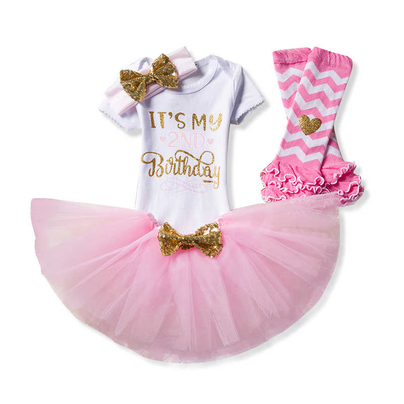 Its My Little Girl 2nd Birthday Party Cake Smash Outfits 2 Year Fancy Clothing Set Gift