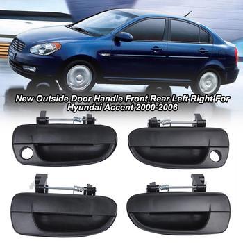 Profesjonalne 4 sztuk klamka zewnętrzna przód/tył ABS samochodów klamka do drzwi s dla nowoczesne Hyundai Accent 2000-2006 klamka zewnętrzna