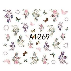 Image 3 - 12 diseños de pegatinas para manicura Dream Cather, calcomanías de transferencia al agua, juegos de tatuajes de uñas, esmalte de Gel, A1261 1272 de uñas DIY
