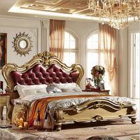 Высокое качество кровать мода европейская французская резные 1.8 м кровать p10061