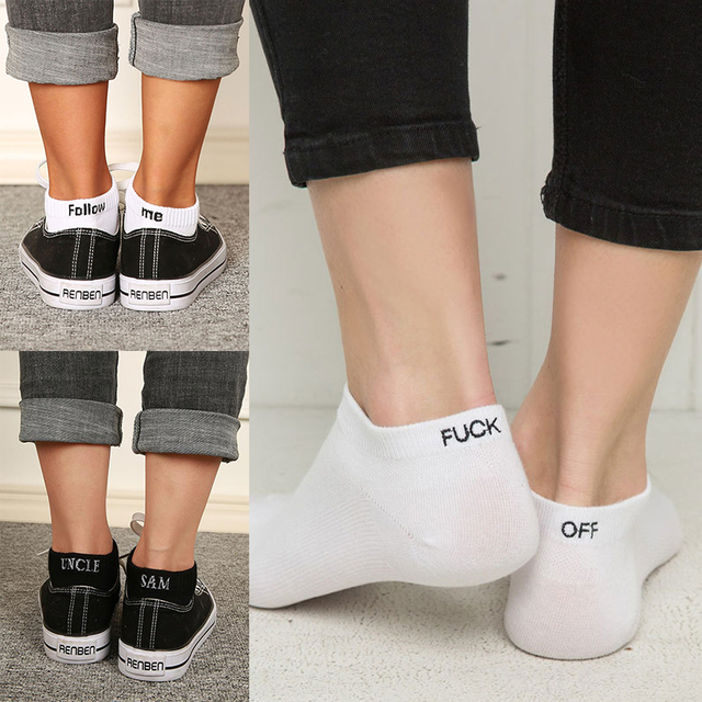 Winter Socks Women Men Cotton Off White Socks HarajukuOff White Breathable Unisex Funny Socks For Men Socks