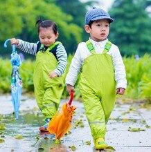 ילדי מכנסיים גשם חדש 2018 מותג עמיד למים סרבל 1 7Yrs תינוק בני בנות סרבל אופנה ילדי סרבל