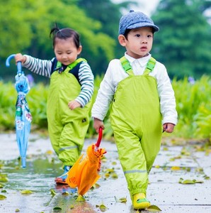 Image 1 - الأطفال السراويل المطر مقاوم للماء جديد 2018 ماركة وزرة مقاوم للماء 1 7Yrs طفل الفتيان الفتيات وزرة موضة الاطفال وزرة