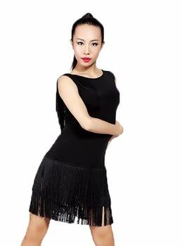 G3006  latin ballroom dance professional no sleeve tassels swing design dress