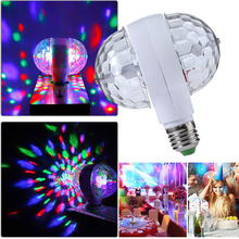 Disco Light Ball Lamp 6W E27 RGB Rotating Stage Light LED Colorful Party Lights For Wedding Holiday Birthday Christmas Bar Home e27 6w led bulb rgb auto rotating magic ball bulb lamp stage light colorful night light for home dj holiday party dance decora