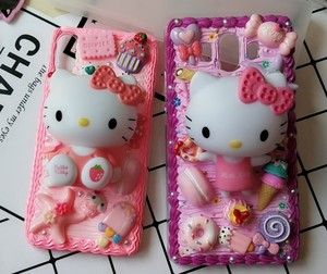 Image 2 - New For iphone  8/ 7 plus DIY case 3D KT cat phone cover for iphone 7 /6 6s plus handmade candy case girl gift for iphone X