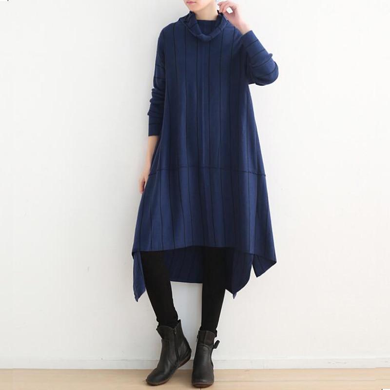 Bleu Dames Pull Casual Long Manteau Tricot Pulls Longues Mode Veste Grand D'hiver Noir Vêtements Hiver Nouvelle 2018 En marron Femmes 5Uqw0