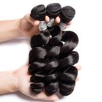 Modern Show Brazilian Hair Weave Bundles Loose Wave Bundles 100% Human Hair 1/3/4 Bundles Remy Human Hair Extensions 10 26inch