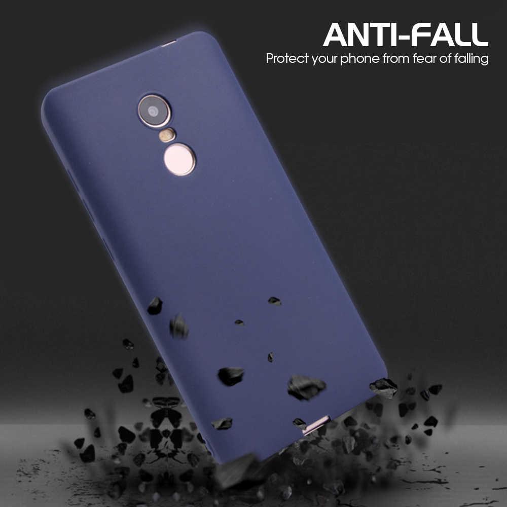 Matte Doce Cor TPU Caso Para Xiaomi Redmi Nota 6 5 Pro 6A 5A 7 Silicone Suave Tampa Traseira Para 6 Pro 5 Plus Nota Redmi 4X Fundas