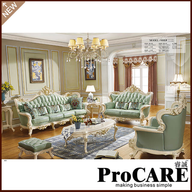 US $4515.0 |living room furniture gold color sofa set gold luxury Italian  furniture-in Living Room Sofas from Furniture on AliExpress