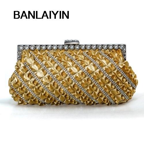 WholeTide 5*Diamond Hand Bag Gold Lace Skirt Dinner porcelaine czech gold hand поднос сакура porcelaine czech gold hand s r o 30х25 см