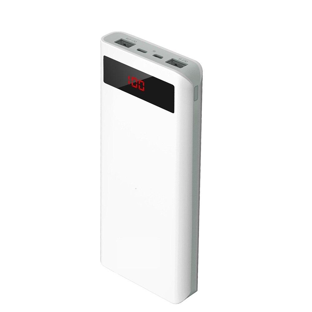 T200 20000mah batterie externe grande capacité Micro Usb 8 broches double Ports charge rapide Version améliorée batterie externe Mobile