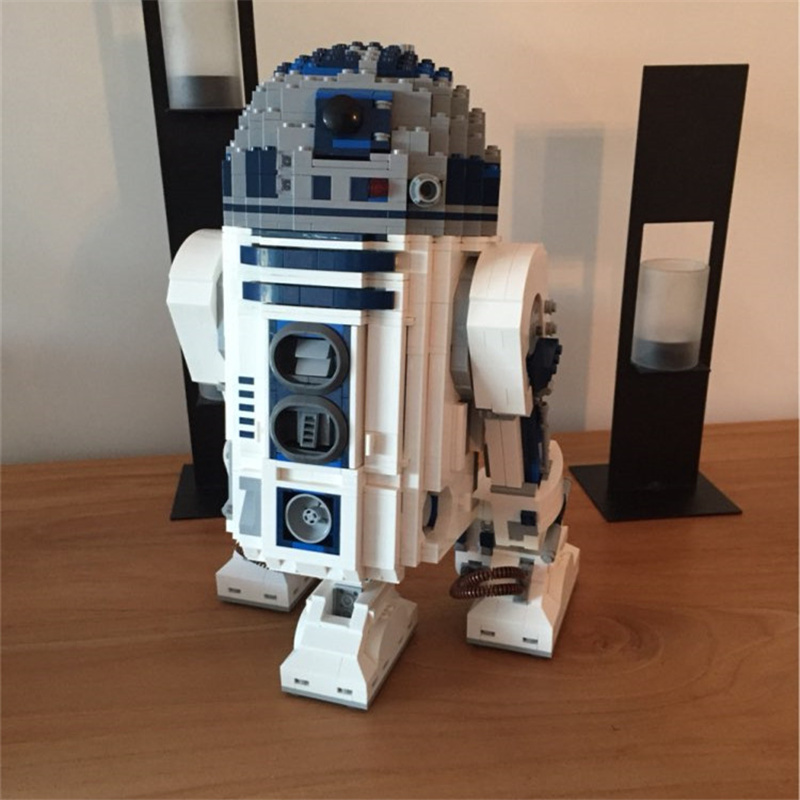 The R2 Robot Set D2 Out of Print Building Blocks Bricks Toys Lepins Classic Genuine Star Series Birthday Christmas Gifts Wars футболка классическая printio r2 d2 star wars