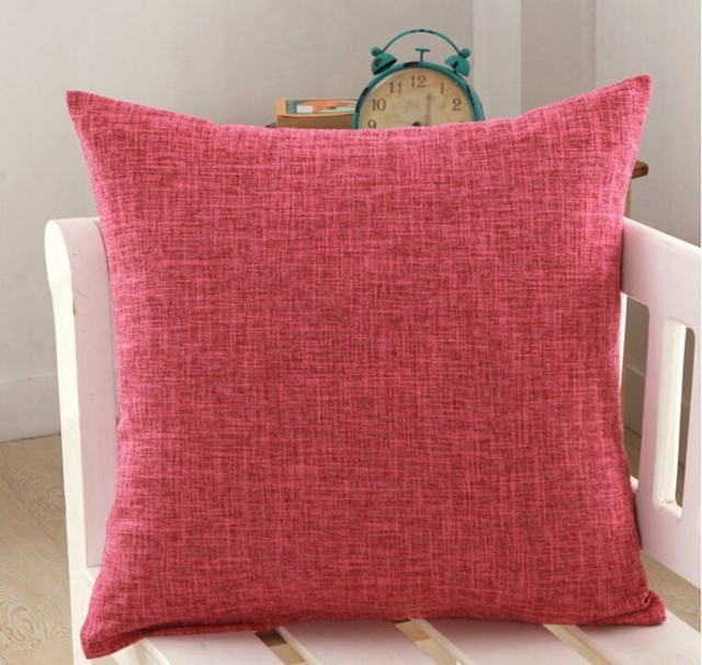 Online Shop Solid Yellow Red White Grey Cushion Covers Nordic Modern Classy Washing Decorative Pillows