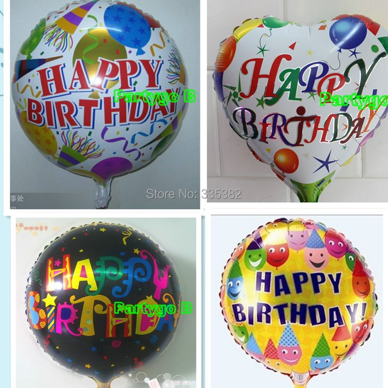 wholesale 50pcs/lot Best Quality 18inch Kids HAPPY BIRTHDAY THEME foil balloon b