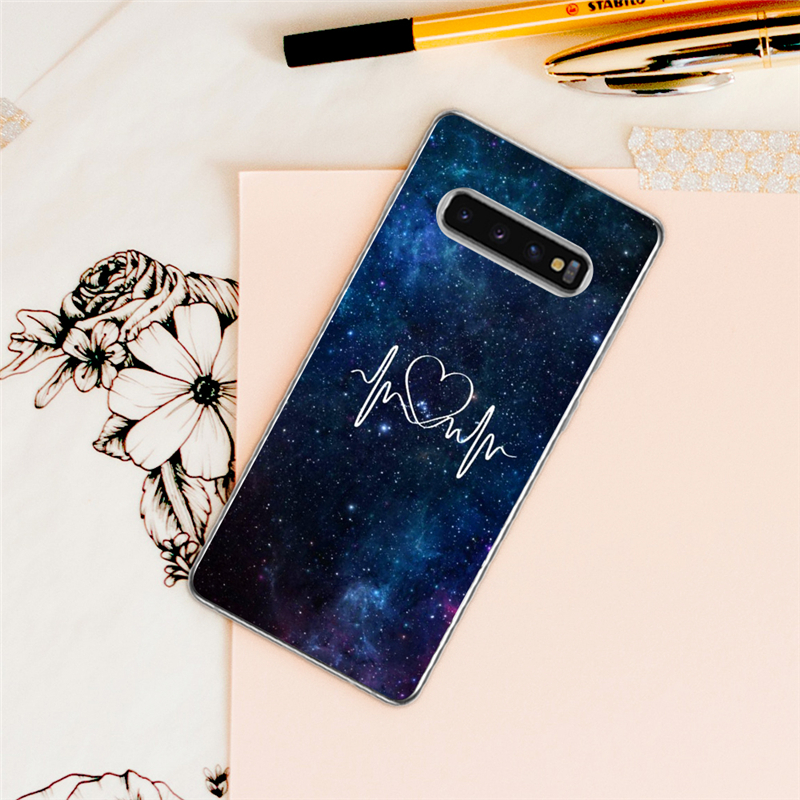 Lower Price with Eleteil Fantasy Starry Sky Case For Samsung S8 S9 S10 Plus S6 S7 Edge Abstract Painted Protective For Samsung S10e Cover E40 Making Things Convenient For The People Phone Bags & Cases Fitted Cases