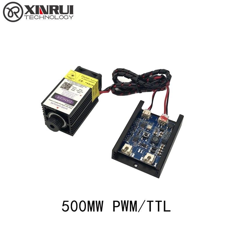 500 МВт 405NM фокусировки синий фиолетовый лазерный модуль гравировка, с ttl управления Лазерная трубки Диод + очки
