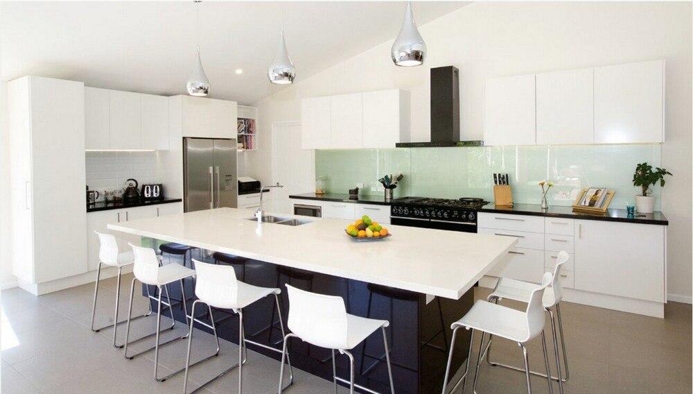 US $150.0 |2017 nuovo disegno due pacchetto pittura lucida mobili da cucina  mobili moderni per la cucina modulare cucina unità-in Accessori e ricambi  ...
