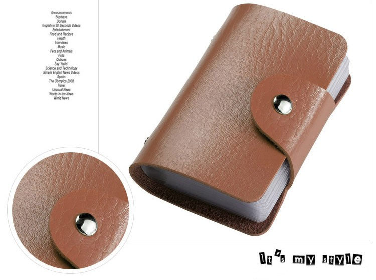 Coin Purses & Holders Professional Sale Women Men Credit Card Holder Pu Leather Hasp Unisex Id Holders Package Organizer Manager