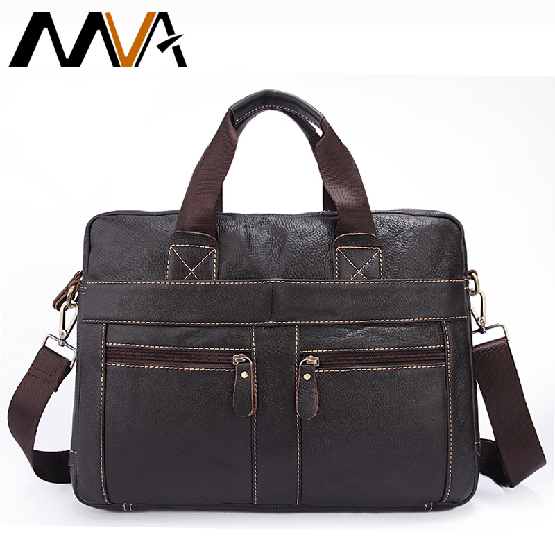 MVA Men's Briefcases Genuine Leather Laptop Bag Messenger Bag Men Shoulder Bags Business Bag Men handbags Leather Briefcase Male mva genuine leather men bags new man briefcase laptop handbag messenger bag men s business bags male crossbody handbags
