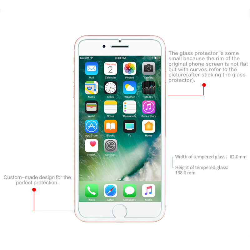 Soultz-Tempered-Glass-Film-for-iPhone-5-5s-7-Plus-9H-Hard-2-5D-Screen-Protector