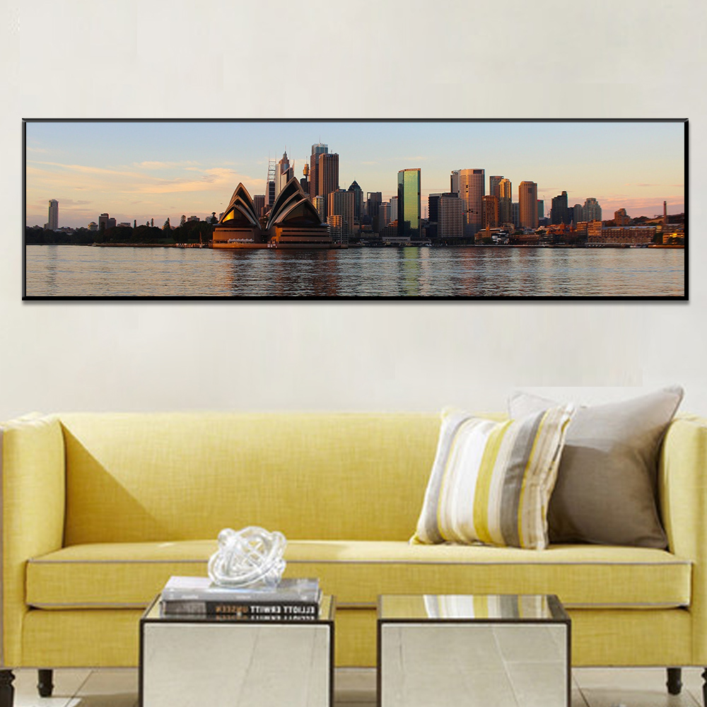 Unframed Canvas Painting Sydney Opera House Building River Picture Prints Wall Picture For Living Room Wall Art Decoration