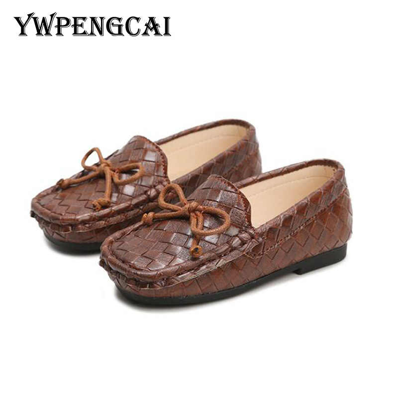367c0c338e3 YWPENGCAI Vintage Style Children Shoes Girls Moccasins Soft PU Leather Boys  Loafers White Black Brown Kids