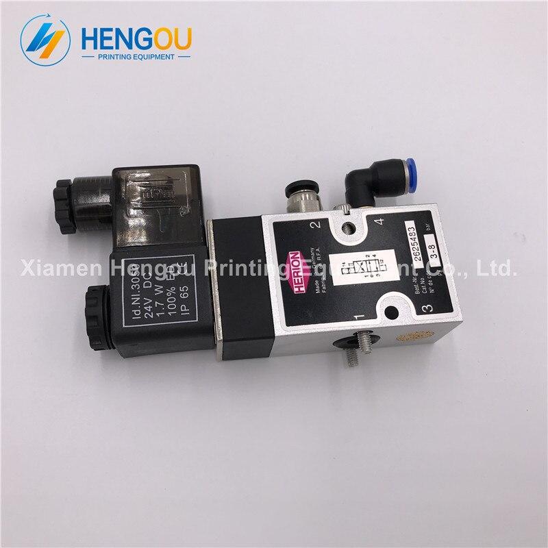 10 Pieces Hengoucn SM102 CD102 SM74 SM52 Machine 4/2-way Valve 61.184.1051 98.184.105110 Pieces Hengoucn SM102 CD102 SM74 SM52 Machine 4/2-way Valve 61.184.1051 98.184.1051