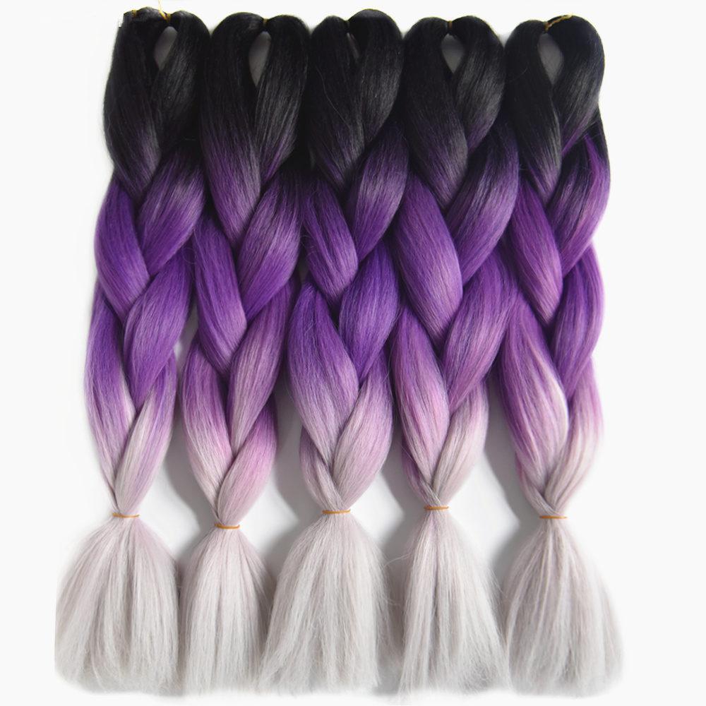 gray braiding hair_