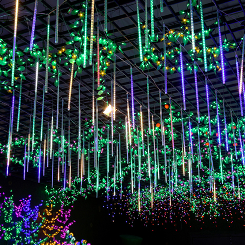 LED String Light Meteor Shower Waterproof Outdoor Tree House Fence Deocro Connectable String Lights
