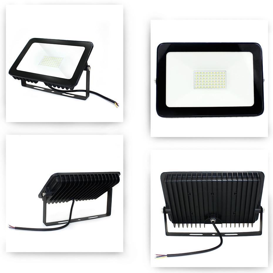 Holofote led ip66 ultra fino, 10w, 30w, 50w, 100w e 150w, para piscina holofote projetor 220v de parede