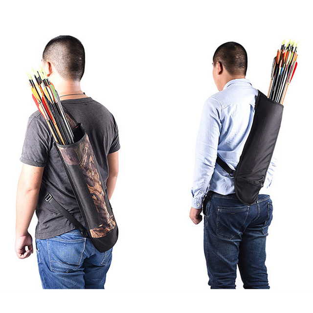 2 Color Large-capacity Lightweight Arrow Quiver Adjustable Shoulder Strap Can Hold About 40 Arrows for Archery Shooting